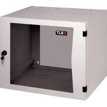 """TWP-065442-G-BK Настенный двухсекционный шкаф 19"""", 6U, стеклянная дверь, Ш540хВ306хГ420мм, черный"""