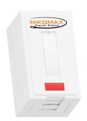 NMC-WO1UD2-FT-ST-WT Настенная розетка NIKOMAX, 1 порт, Кат.5e