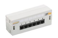 NMC-WP06UE2-GY Коммутационная панель NIKOMAX настенная, 6 портов, Кат.6 (Класс E), 250МГц, RJ45/8P8C, 110, T568A/B, неэкранированная