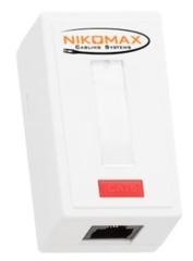 NMC-WO1UD2-WT Настенная розетка NIKOMAX, 1 порт, Кат.5e