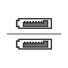 Опция DELL Cable Data SATA, 0,2m 1psc