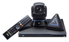 Система для организации видео конференцсвязи, до 10 точек, поворотная камера, 16х оптический Zoom, FullHD