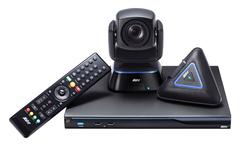 Система для организации видео конференцсвязи, до 10 точек, поворотная камера, 12х оптический  и 1,5х цифровой Zoom, FullHD