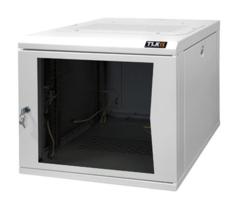 """TWC-065350-G-BK Настенный шкаф 19"""", 6U, стеклянная дверь, Ш530хВ333хГ500мм, черный"""